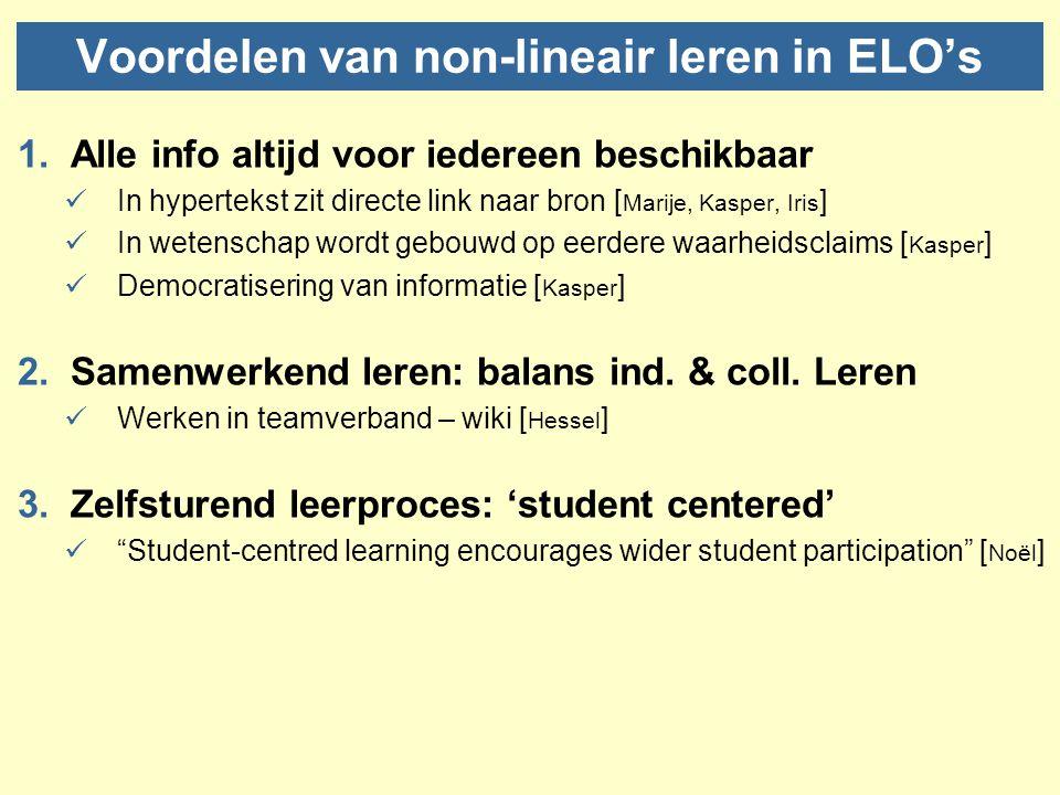 Voordelen van non-lineair leren in ELO's