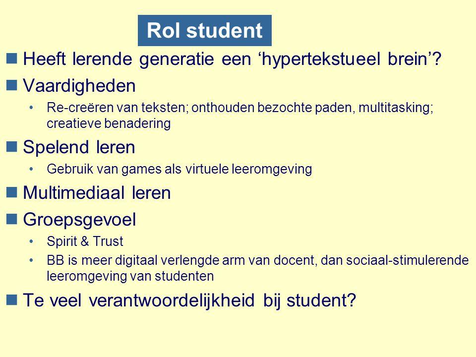 Rol student Heeft lerende generatie een 'hypertekstueel brein'