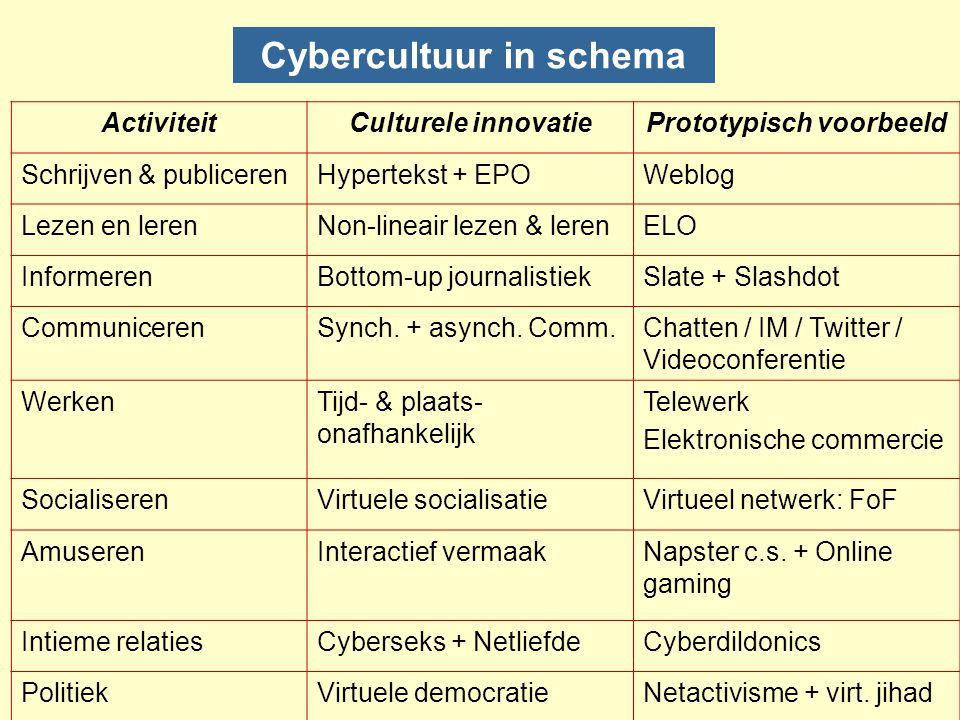 Cybercultuur in schema