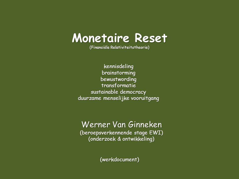 Monetaire Reset (Financiële Relativiteitstheorie) kennisdeling. brainstorming. bewustwording. transformatie.
