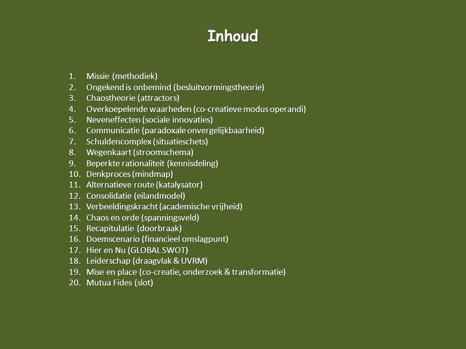 Inhoud Missie (methodiek)