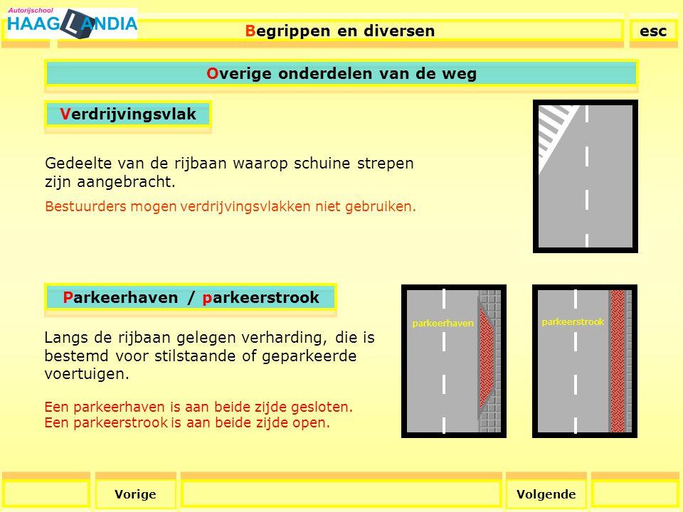 Overige onderdelen van de weg Parkeerhaven / parkeerstrook