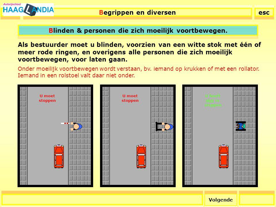 Blinden & personen die zich moeilijk voortbewegen.