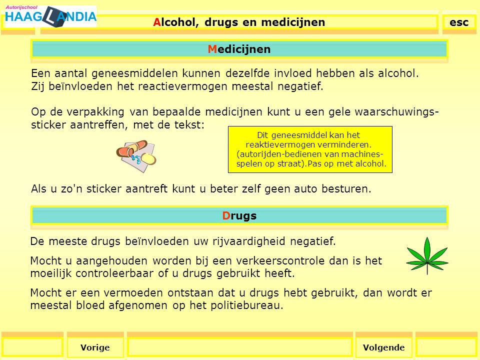 Alcohol, drugs en medicijnen