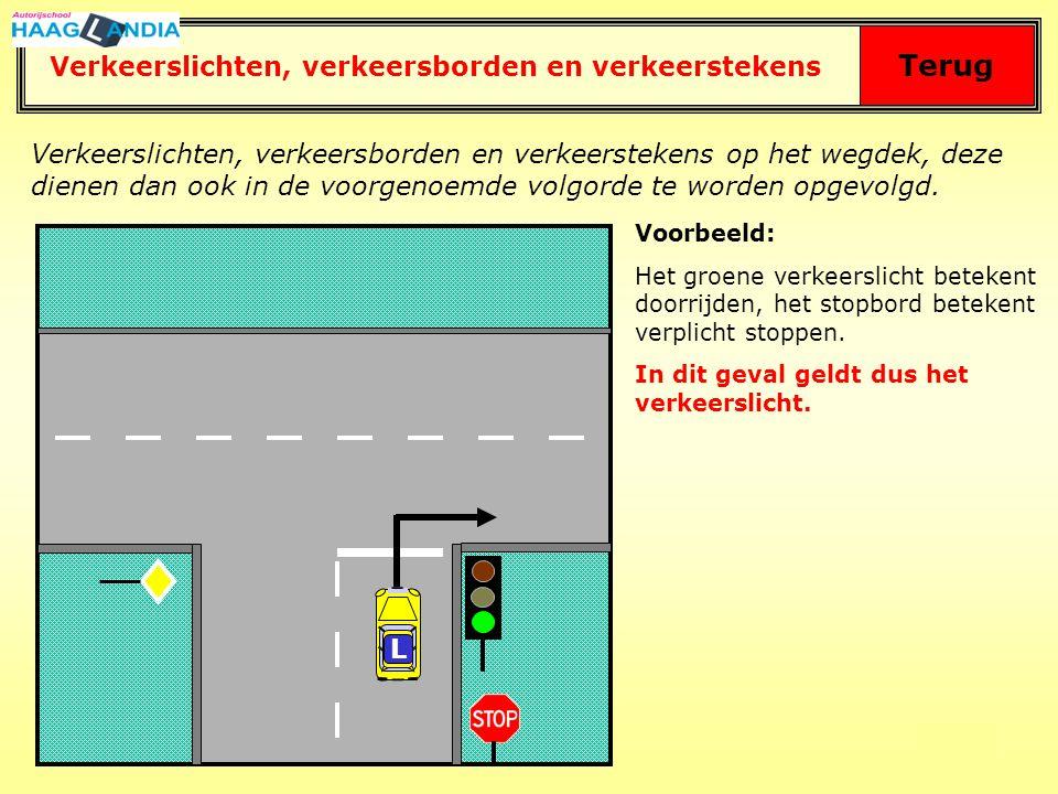 Terug Verkeerslichten, verkeersborden en verkeerstekens