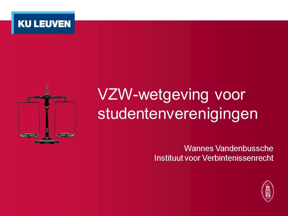 VZW-wetgeving voor studentenverenigingen