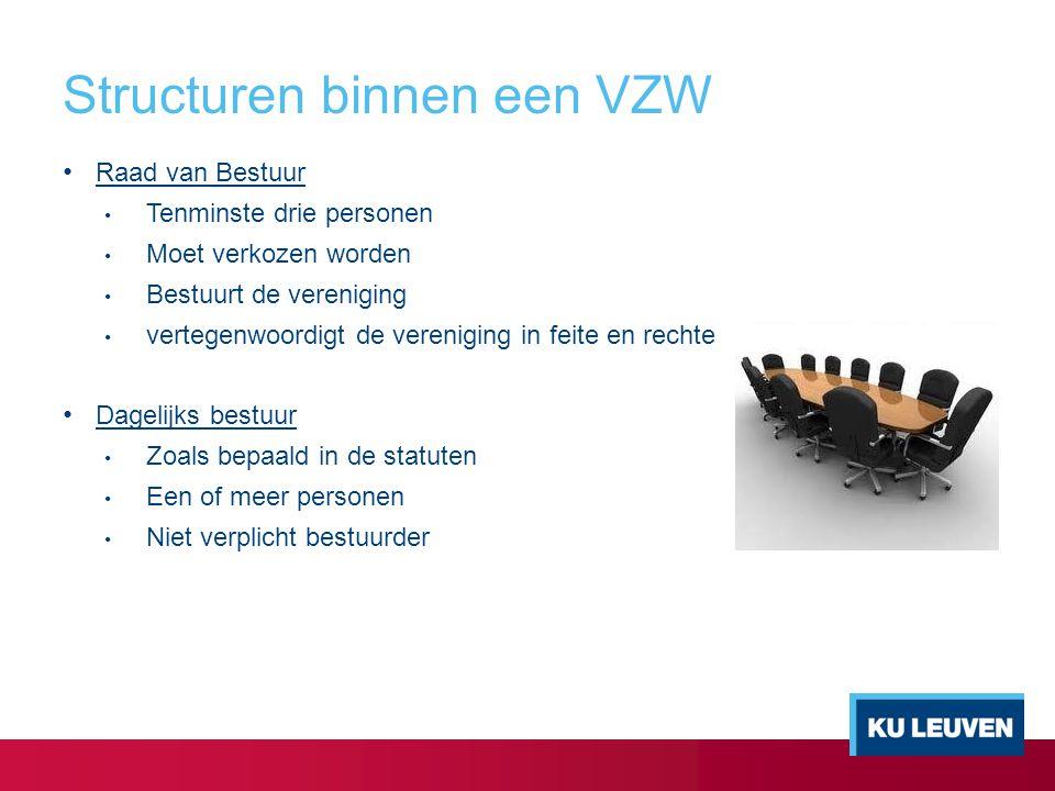 Structuren binnen een VZW