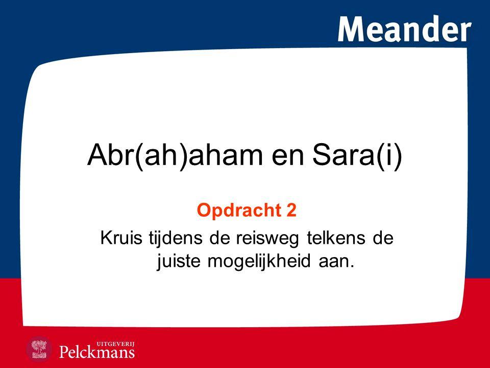 Abr(ah)aham en Sara(i)