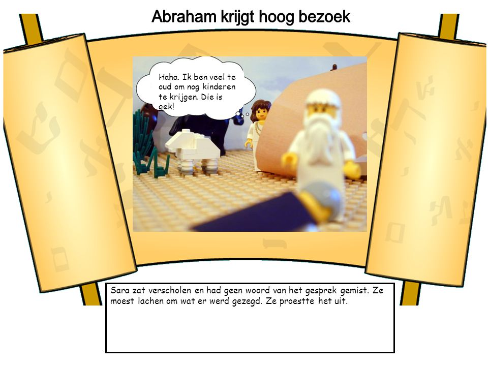 Abraham krijgt hoog bezoek