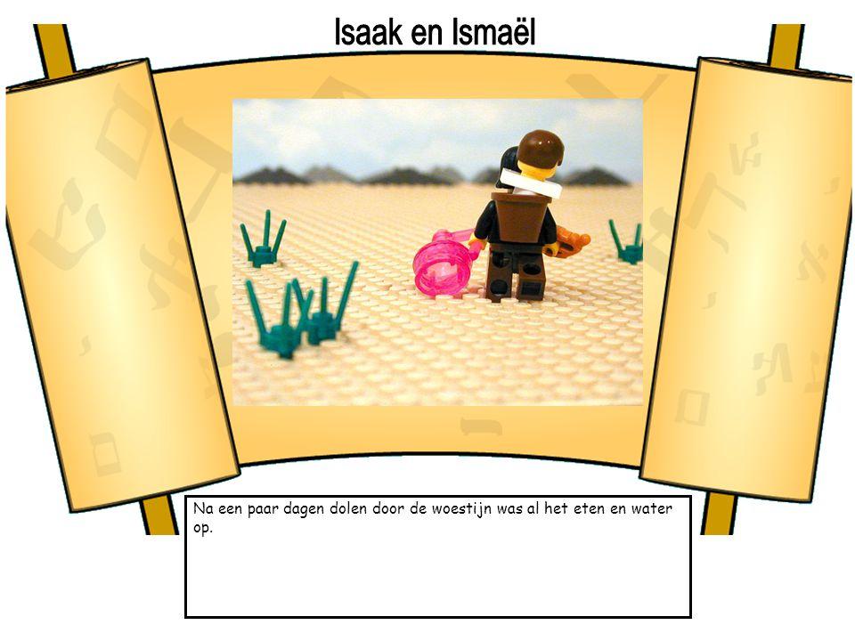 Isaak en Ismaël Na een paar dagen dolen door de woestijn was al het eten en water op.