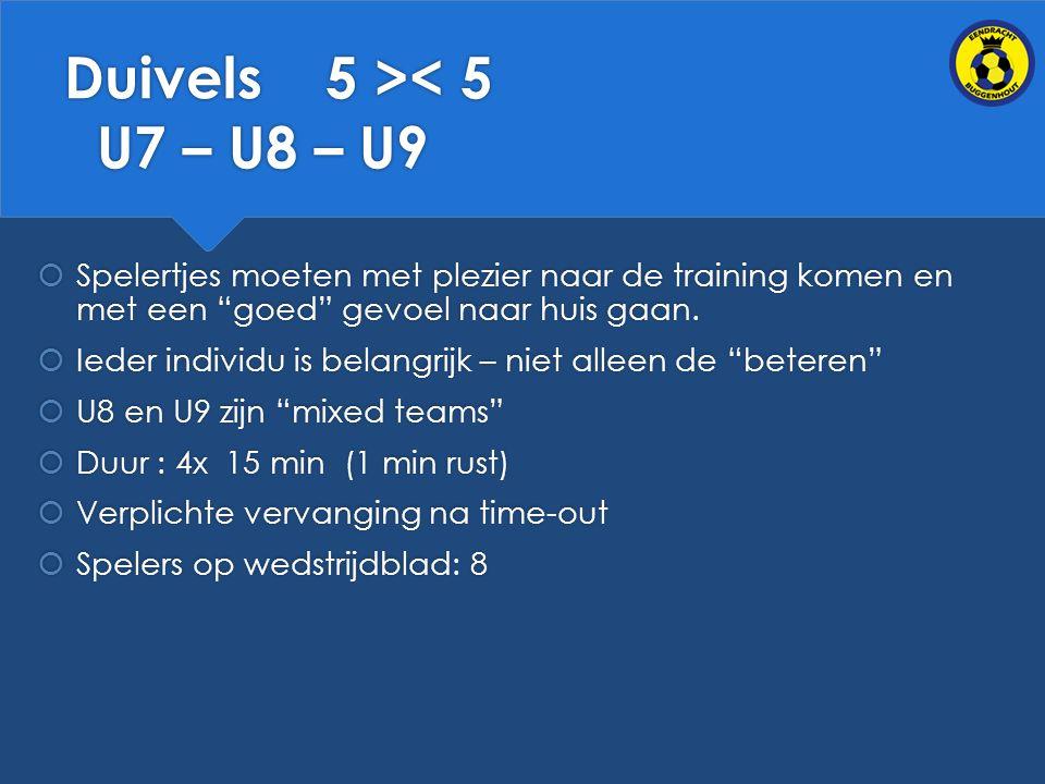 Duivels 5 >< 5 U7 – U8 – U9