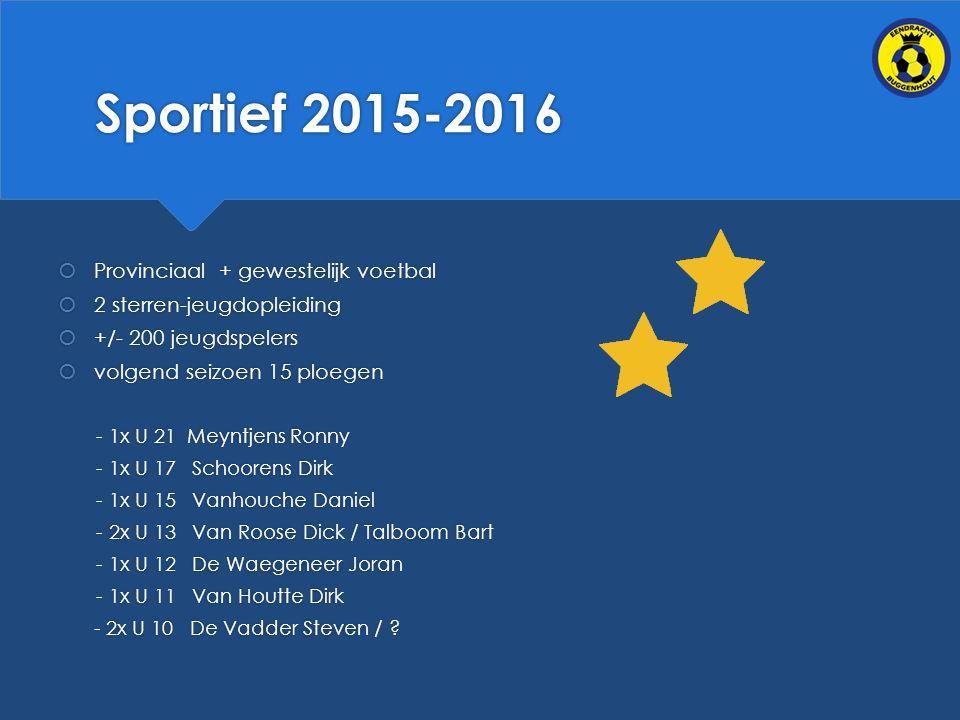 Sportief 2015-2016 Provinciaal + gewestelijk voetbal