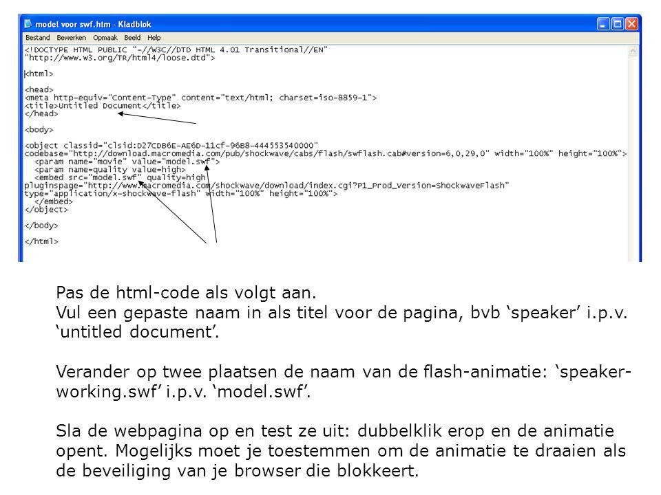 Pas de html-code als volgt aan.