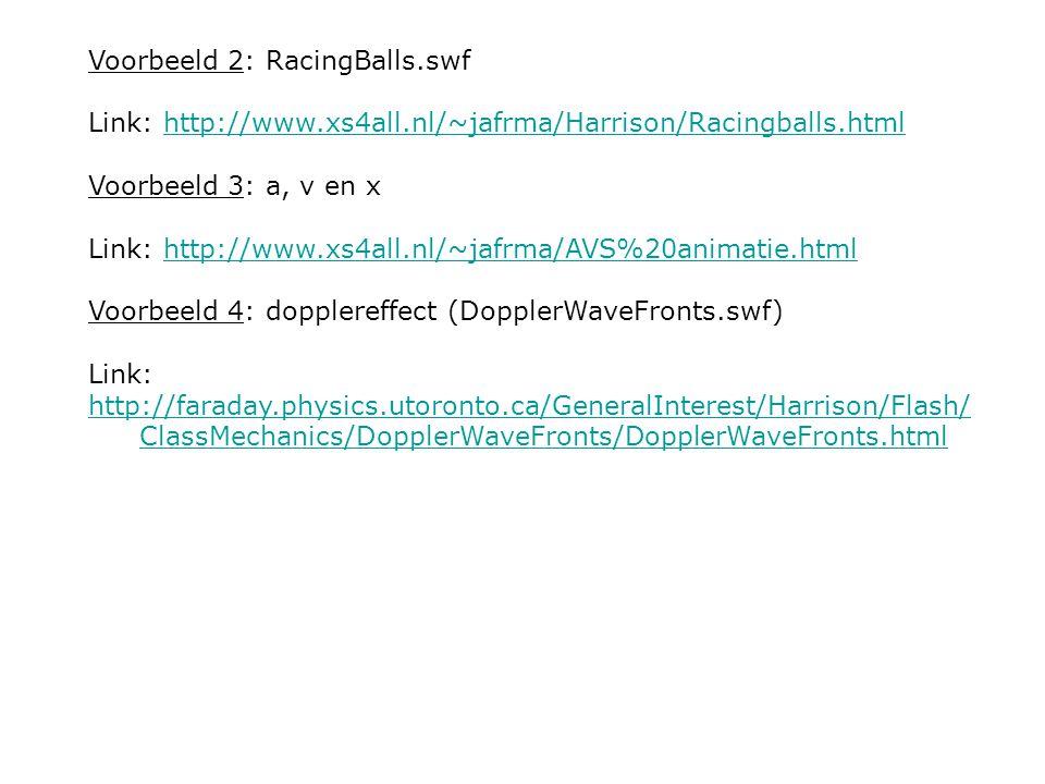 Voorbeeld 2: RacingBalls.swf