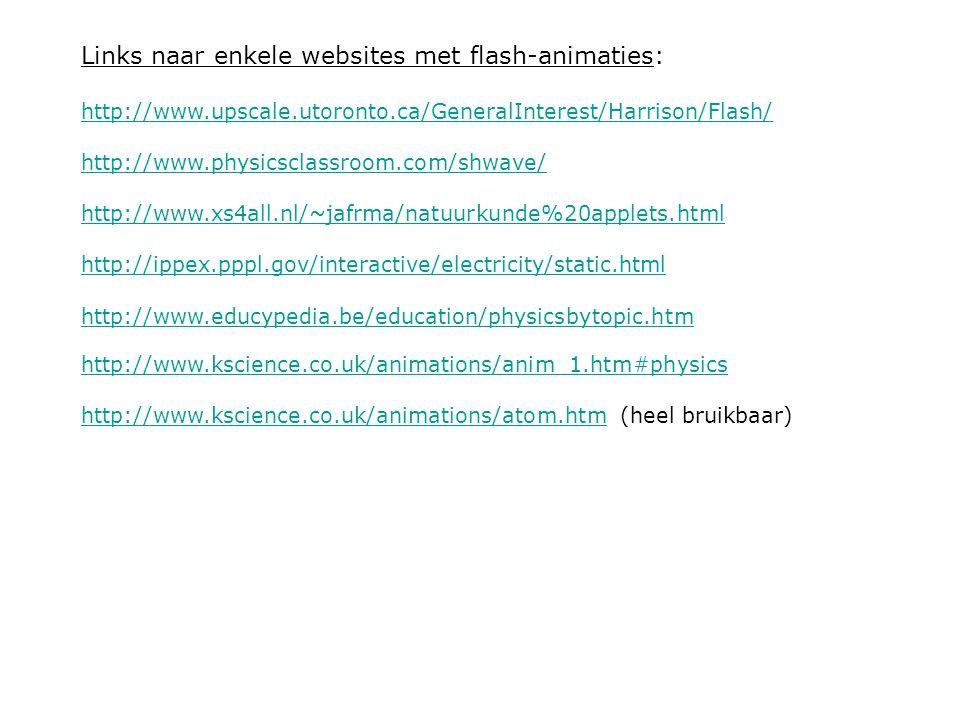 Links naar enkele websites met flash-animaties: