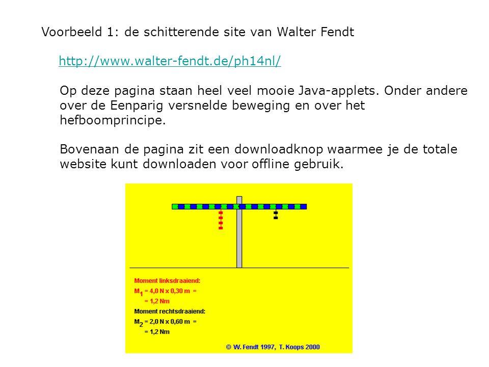 Voorbeeld 1: de schitterende site van Walter Fendt