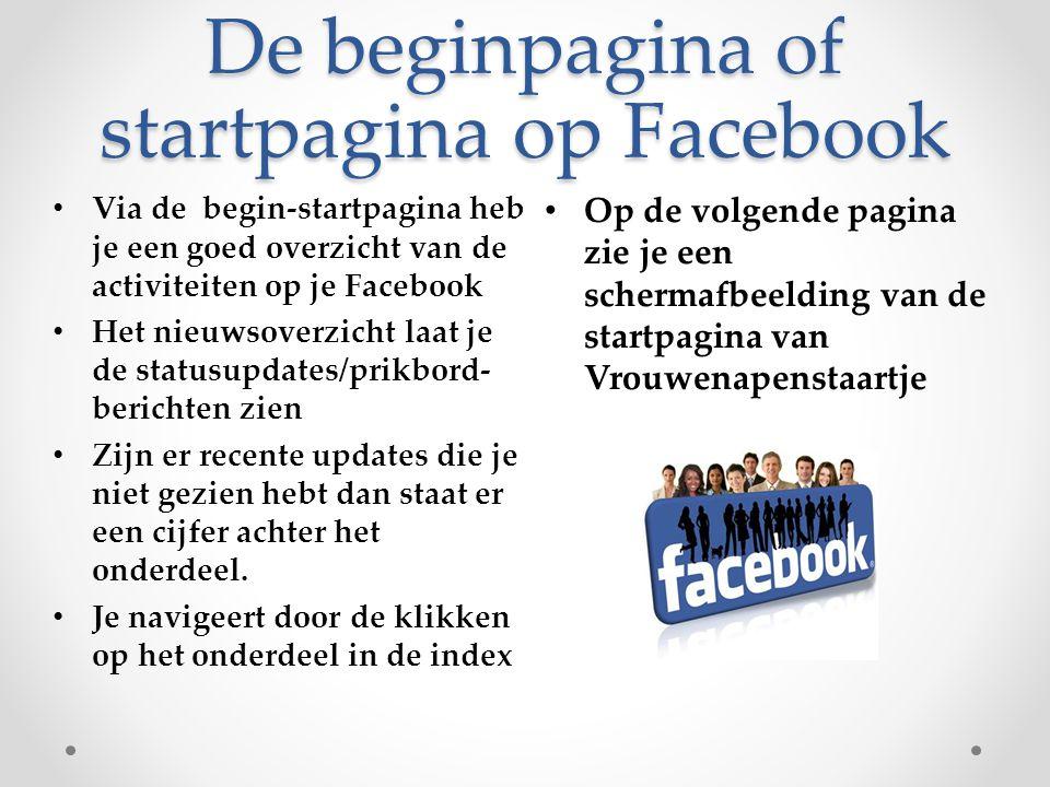 De beginpagina of startpagina op Facebook
