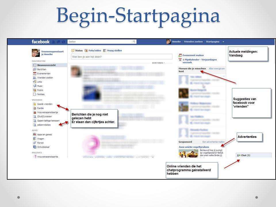Begin-Startpagina Straks aan het eind van deze presentatie laat ik de startpagina en alle mogelijkheden even op het grote scherm zien.