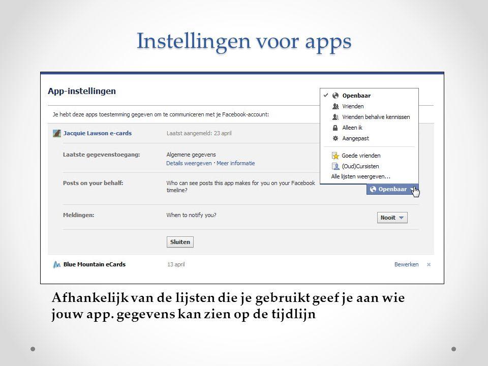 Instellingen voor apps