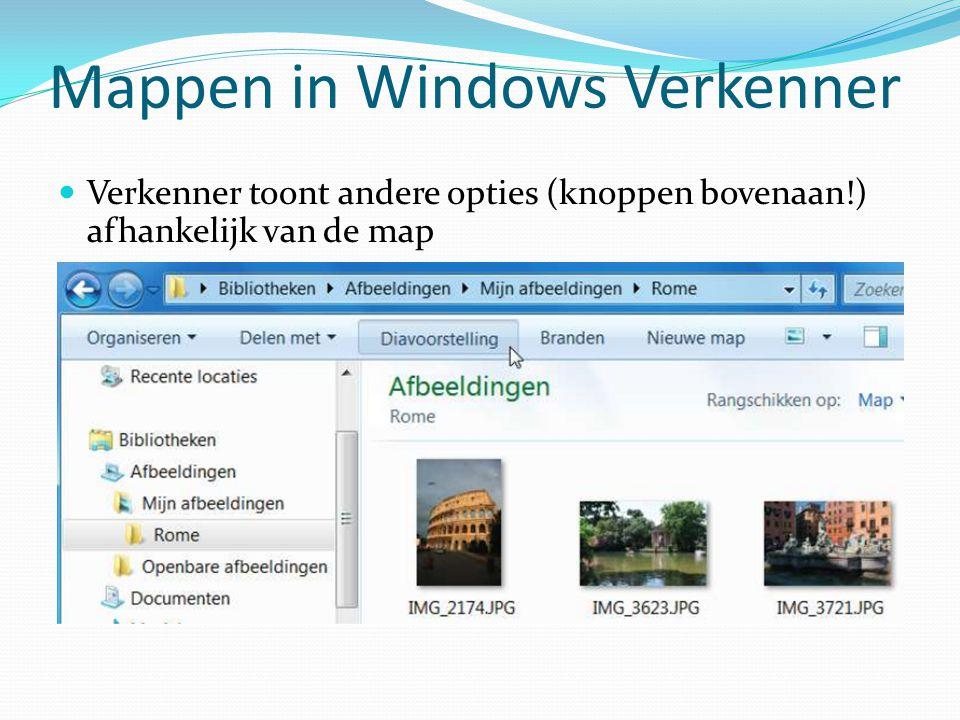 Mappen in Windows Verkenner