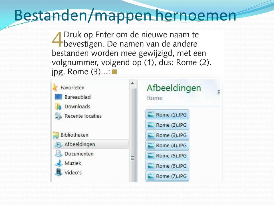 Bestanden/mappen hernoemen
