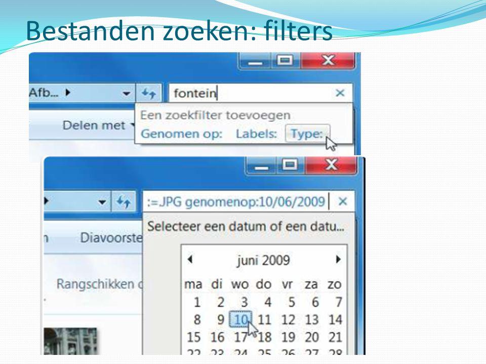 Bestanden zoeken: filters