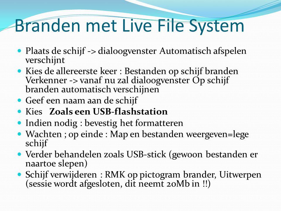 Branden met Live File System