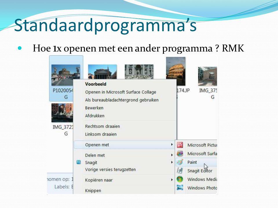 Standaardprogramma's