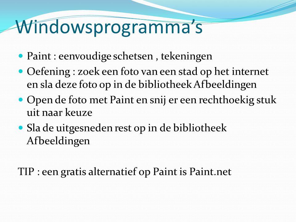 Windowsprogramma's Paint : eenvoudige schetsen , tekeningen