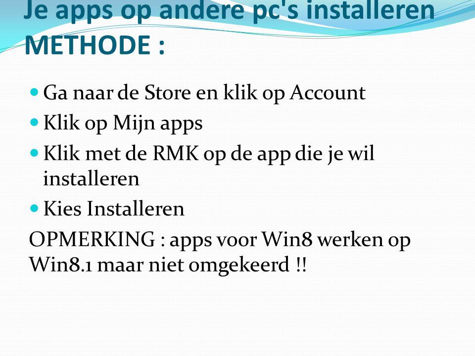Je apps op andere pc s installeren METHODE :