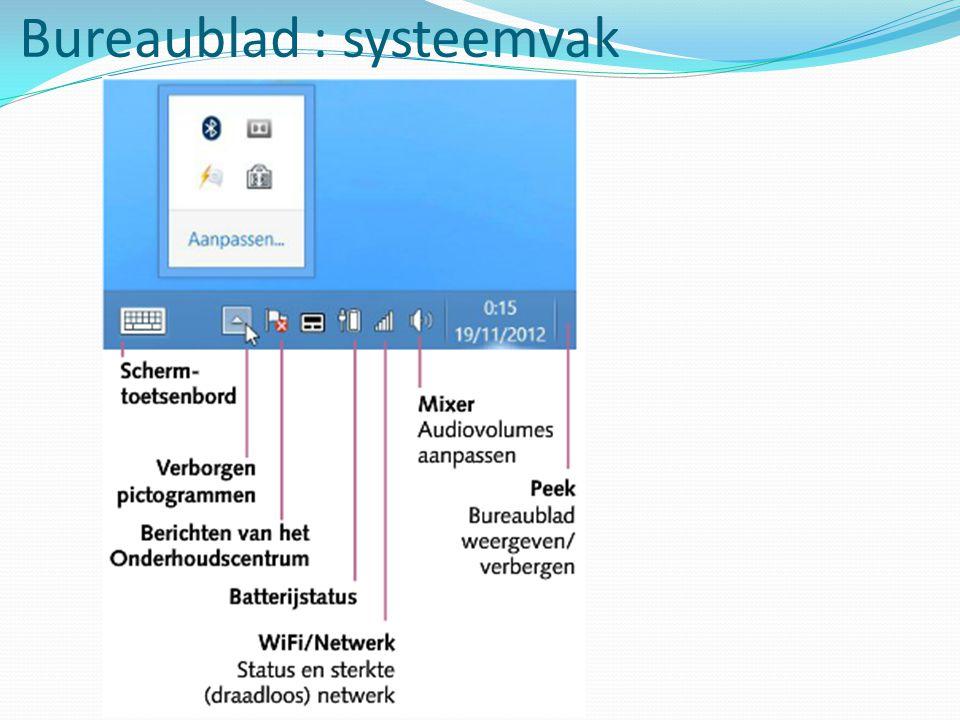 Bureaublad : systeemvak