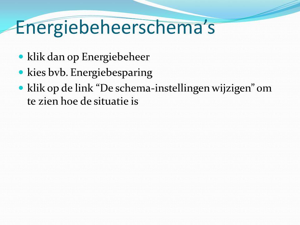 Energiebeheerschema's