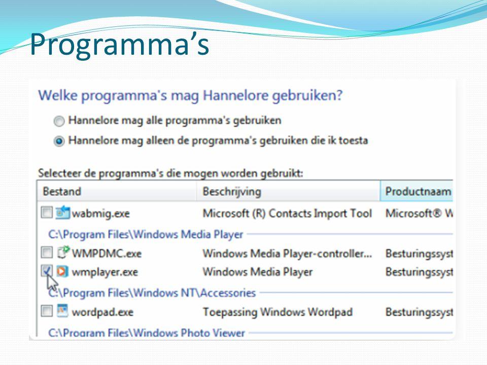 Programma's