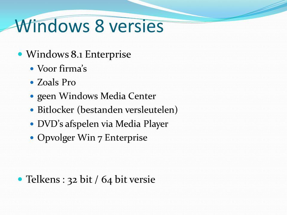 Windows 8 versies Windows 8.1 Enterprise