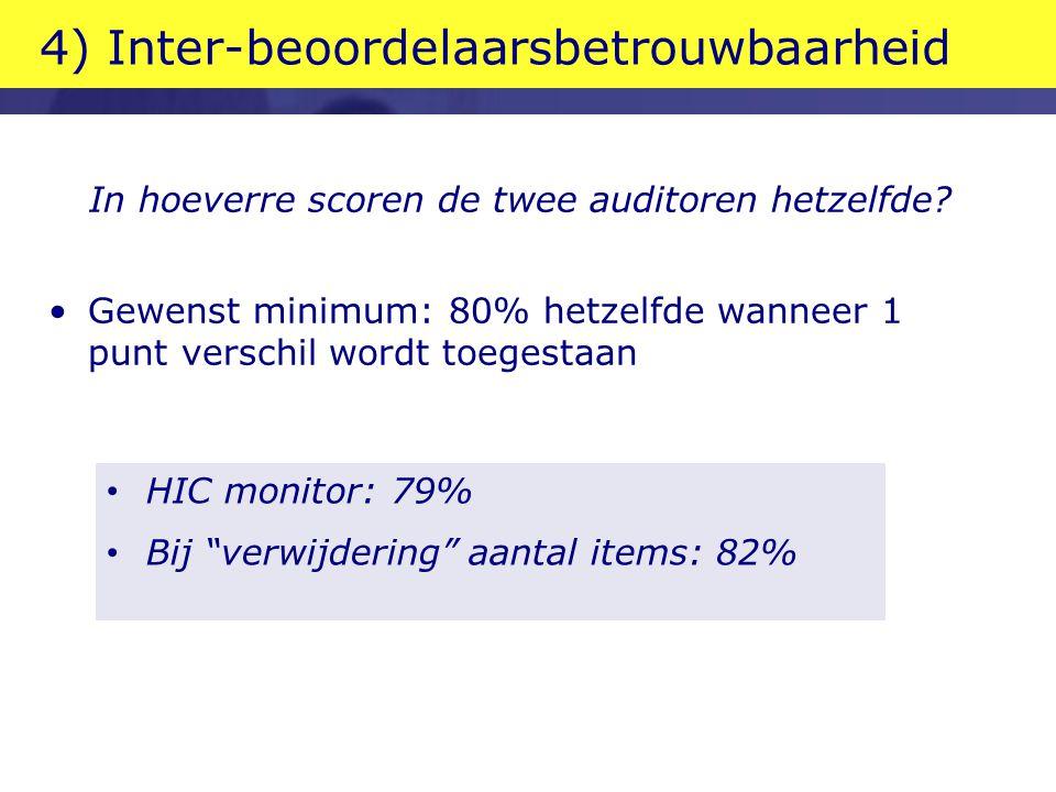 4) Inter-beoordelaarsbetrouwbaarheid