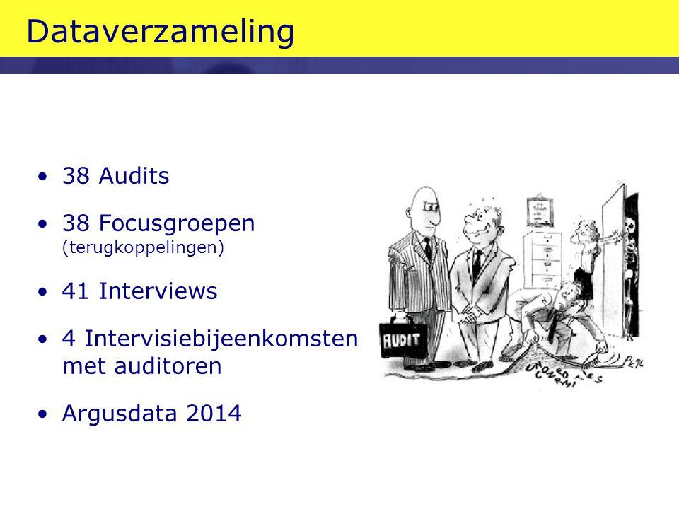 Dataverzameling 38 Audits 38 Focusgroepen (terugkoppelingen)
