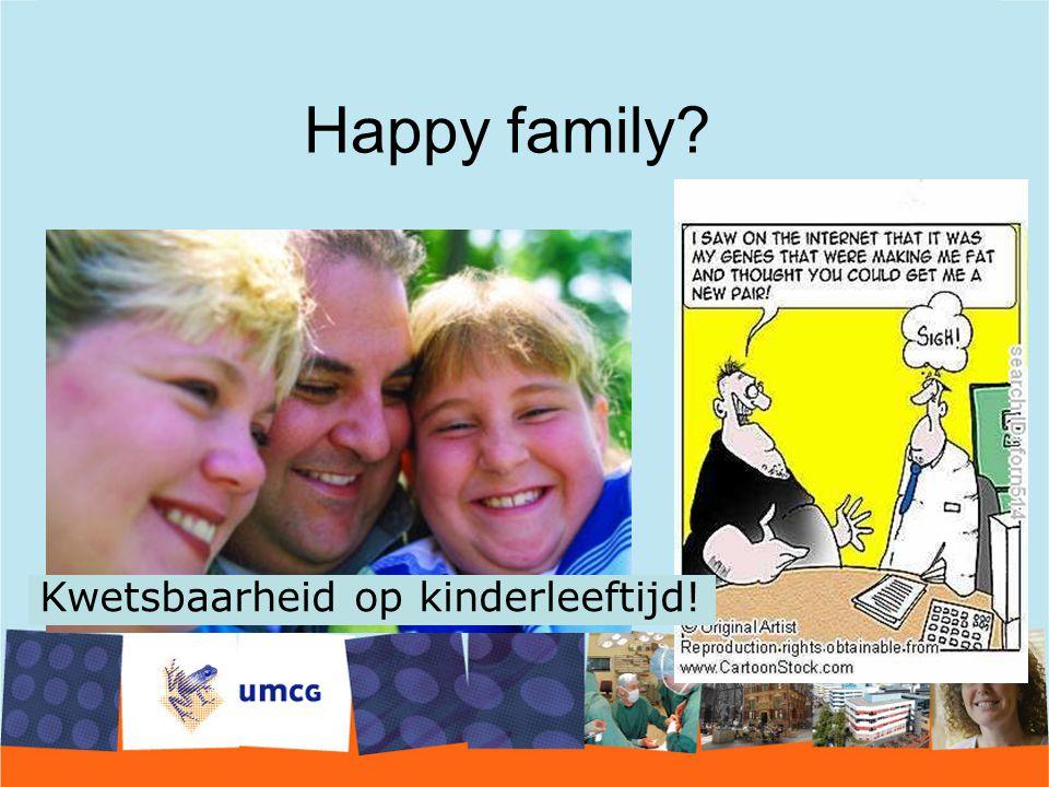 Happy family Kwetsbaarheid op kinderleeftijd!