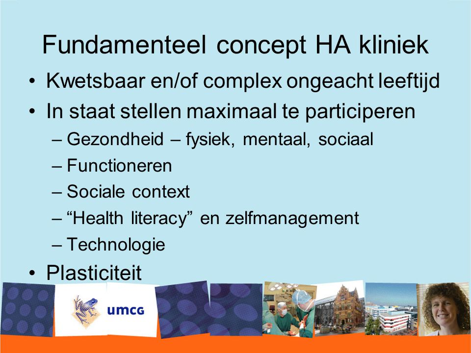 Fundamenteel concept HA kliniek