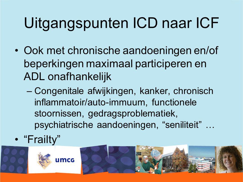 Uitgangspunten ICD naar ICF