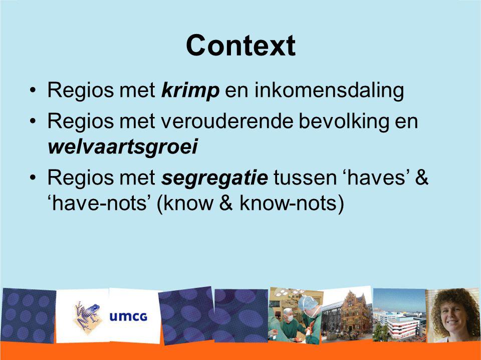 Context Regios met krimp en inkomensdaling