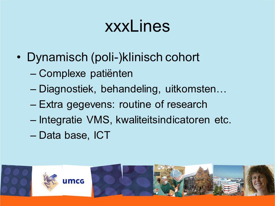 xxxLines Dynamisch (poli-)klinisch cohort Complexe patiënten