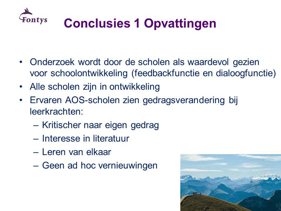 Conclusies 1 Opvattingen