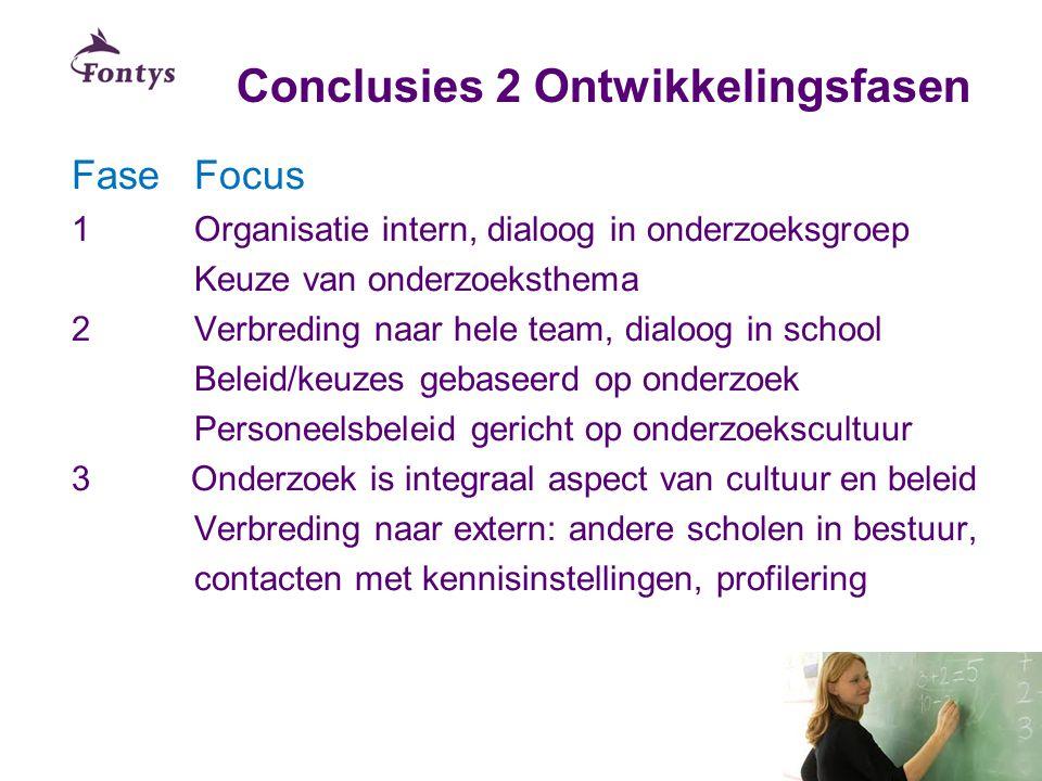 Conclusies 2 Ontwikkelingsfasen