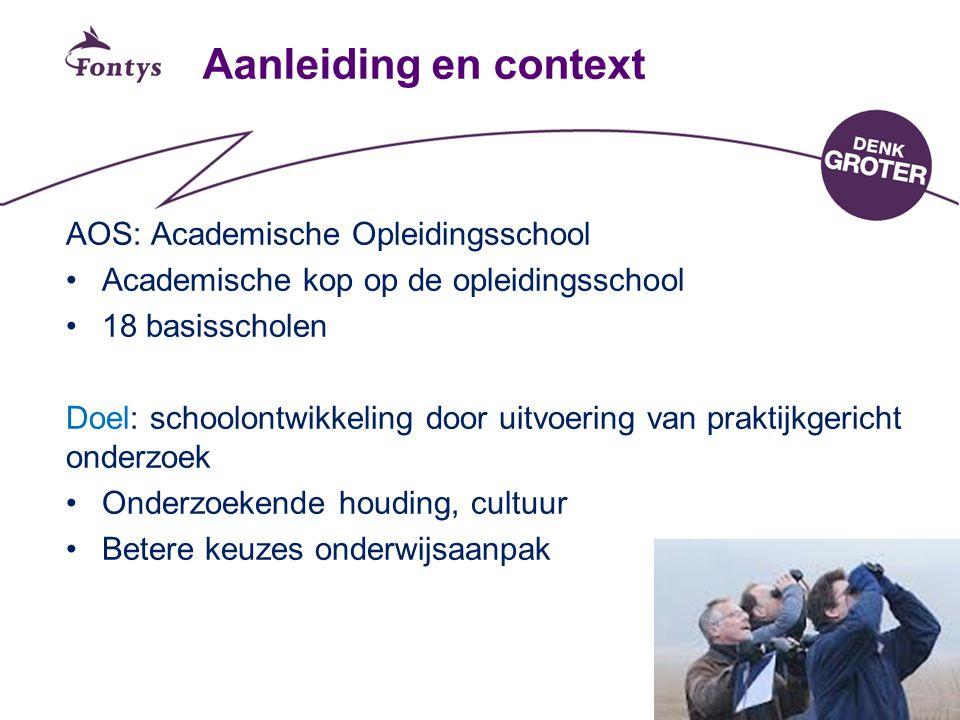Aanleiding en context AOS: Academische Opleidingsschool