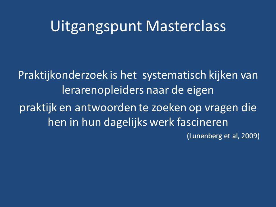 Uitgangspunt Masterclass