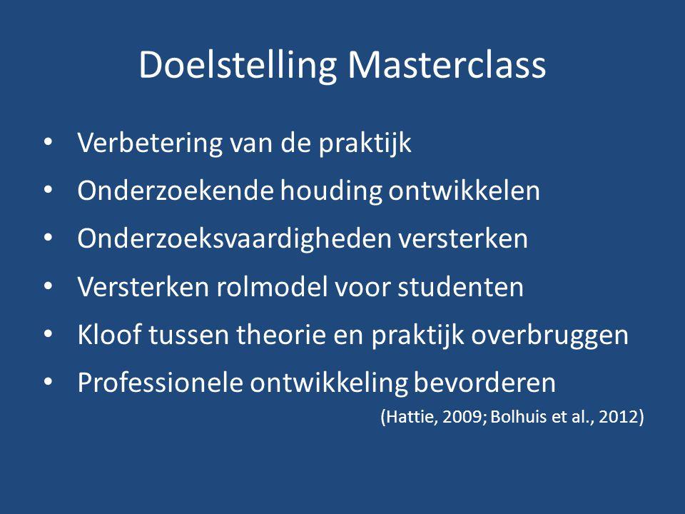 Doelstelling Masterclass