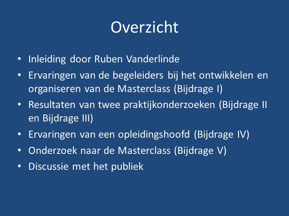 Overzicht Inleiding door Ruben Vanderlinde