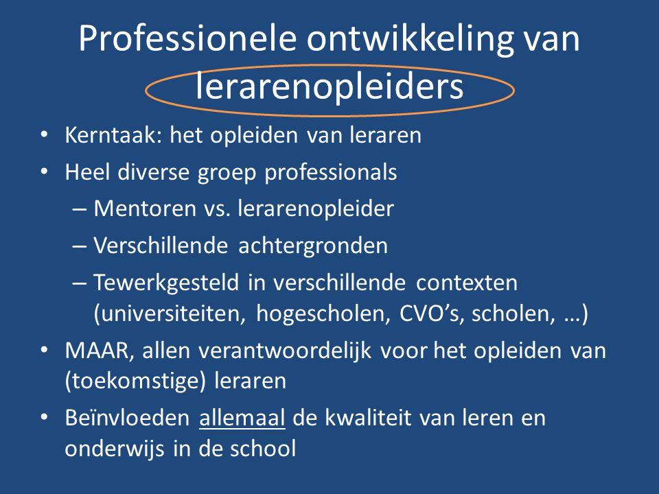 Professionele ontwikkeling van lerarenopleiders