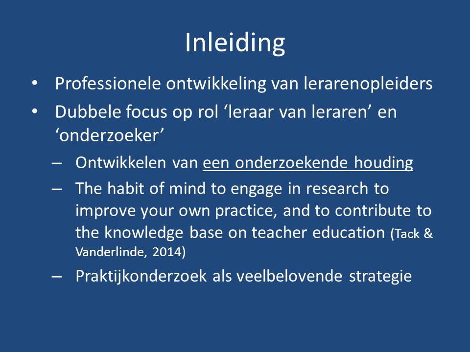 Inleiding Professionele ontwikkeling van lerarenopleiders