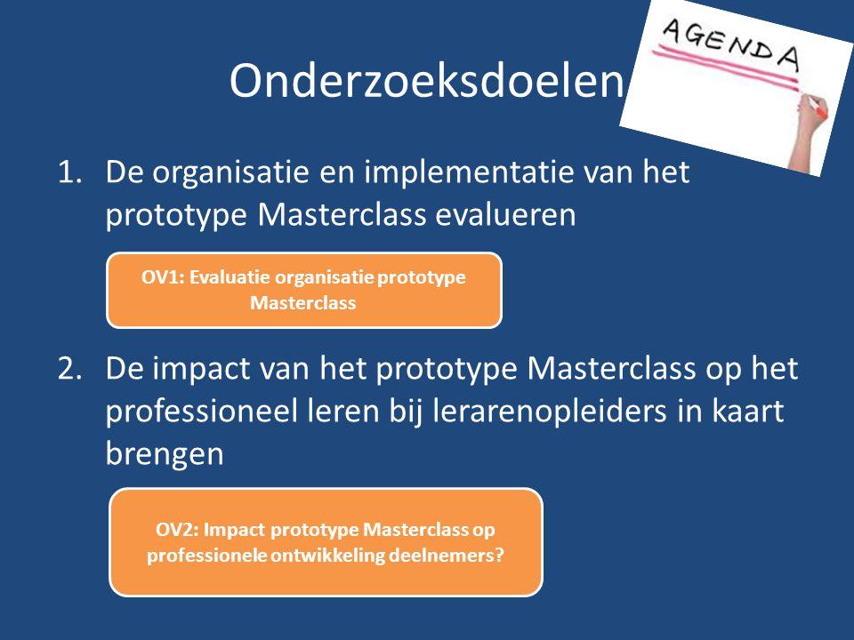 OV1: Evaluatie organisatie prototype Masterclass